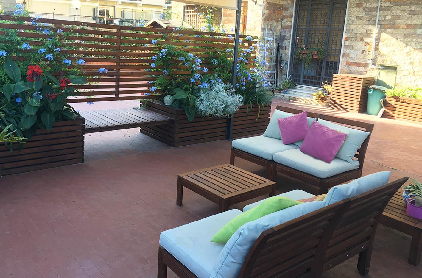Legno e colori - Progettazione terrazzo Genova (4)