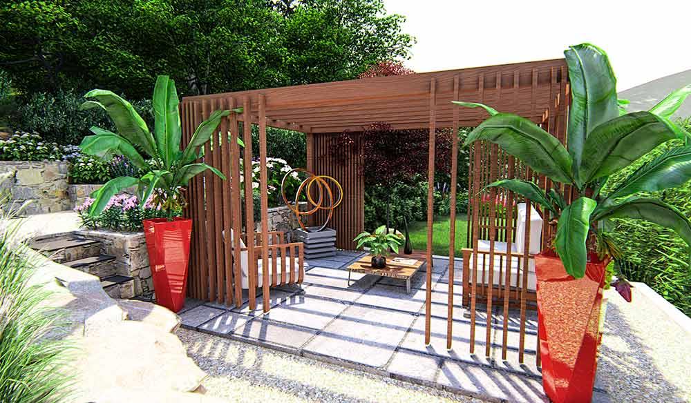 Progettazione giardino orientale